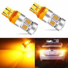 JDM ASTAR 7440 T20 Amber Yellow PX SMD LED Turn Signal Blinker Tail Light Bulbs