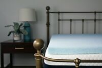 "2'' or 3"" Lounj Gel Memory Foam Mattress Topper King Queen Full Twin Cal King XL"