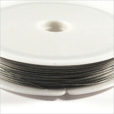 Wired Wire Steel Wrapped Nylon 0,45mm – 60m Grey for jewelery creation