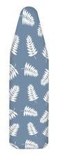 Homz 14 in. W x 42 in. L Cotton Ironing Board Cover Blue Fern Leaf