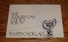 Original 1979 Cadillac Full Line Luxury Car Sales Brochure 79 Fleetwood Seville