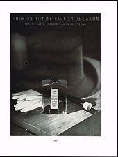 1934 BIG Vintage Caron Pour Homme Parfum Perfume Fragrance Bottle Photo Print Ad