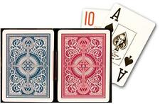 Kem Arrow Red and Blue, Poker Size-Jumbo Index Playing Cards (Pack of 2), New, F