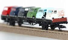 Märklin H0 45099-04 Autotransportwagen mit Goggomobil-Transportern Neu