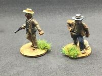 Painted 28mm 2 x Western Characters Ranchers   Cowboys metal Blue Moon