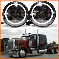 7inch Round 2x LED Headlight For Freightliner Century 95 Peterbilt 379 EXHD 359