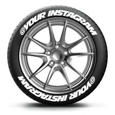 "PERMANENT TIRE LETTERS 1.25"" @YOUR INSTAGRAM 15""16""17""18"" 19"" 20"" 21"" 22"""