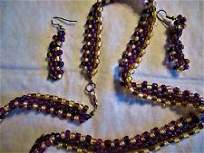 "201/2"" Seed Bead Necklace Set �Jewelry Sale! Beautiful Colorful Handmade"
