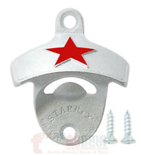 Embossed Red Heineken Star Beer Bottle Opener Wall Mounted Cast Iron w/ Screws