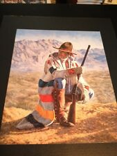 """Navajo Scout Large 16"""" X 20"""" Picture Print New In Lithograph"""
