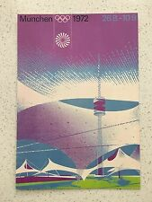 FANTASTIC 1972 MUNICH OLYMPICS POSTCARD - OTHERS YEARS AVAILABLE FROM AUST.