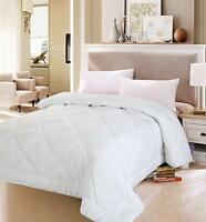 White Queen Size Comforter Duvet Insert Cover Set Quilted Bedroom Diamond Soft