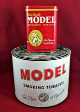 2 for 1 Vintage MODEL Smoking Tobacco Round Canister & Pocket Tobacco Tins