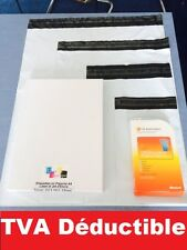 enveloppe plastique blanches opaque  formats: A5 A4 A3 A3++ de 10 a 1000 ex