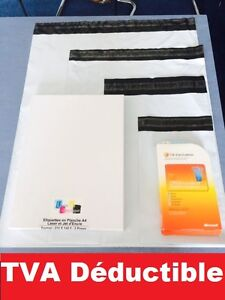enveloppe plastique blanches opaque vad formats: A5 A4 A3 A3++ de 10 à 1000 ex