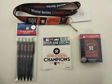 HOUSTON ASTROS CHAMPIONS LANYARD - DECAL- DECK OF 52 PLAYING CARDS - 5 PACK PENS