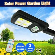Solar LED Street Light Motion Sensor Outdoor Garden Remote Wall Yard Down Lamp