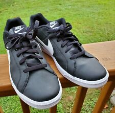 Nike Mens Court Royale Black/White Running Shoes Size 11 M.  NICE