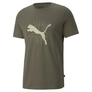 Puma Cat Graphic Tee. Mens. Grape Leaf