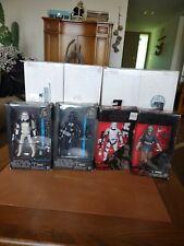 "Star Wars The Black Series 6 "" Lot Of 4  Sandtrooper Tie Pilot First Order..."