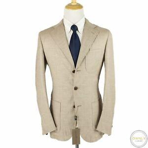 NWT Luciano Barbera Sartoriale Brown Wool H-Bone Triple Patch Pkts Jacket 40R