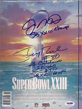 JOE MONTANA & JERRY RICE COMBO SIGNED & INSCRIBED SUPERBOWL 23 PROGRAM - PSA/DNA
