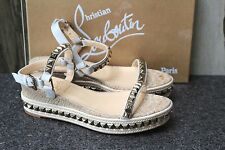 NIB Christian Louboutin CATACLOU 60 ROCK STUDS WEDGE PLATFORM SLINGBACK SHOES 39