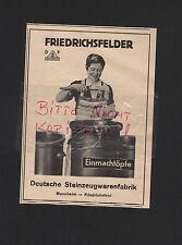 MANNHEIM FRIEDRICHSFELD, Werbung 1935, Deutsche Steinzeugwarenfabriken