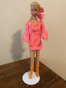 VINTAGE 1960's TWIST 'N TURN PJ BARBIE  in PJ Dress Go Go Boots