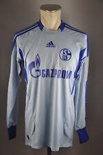 FC Schalke 04 Trikot Gr. M 2011-12 Adidas Jersey Torwart blau Gazprom Shirt
