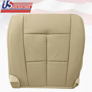 2007-2014 Lincoln Navigator Luxury Pckg Front Left Bottom Leather Seat Cover Tan