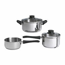 NEW IKEA 5 Pieces Cookware Pot Saucepan Set Stainless Steel Annons Glass Lid