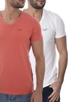Kaporal Tee-shirt Orange Blanc Pack De 2 Gift