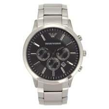 Armani Watches Armani Uhren AR2460 Armani Edelstahl Silber & Schwarz Herrenuhr