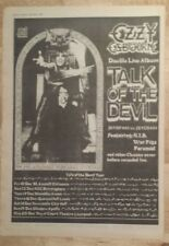 Ozzy Osbourne Parler de Devil 1982 press advert Complet page 27 x 38 cm mini