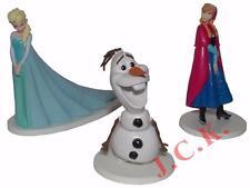 Congelati Elsa Anna Olaf STATUINE IN PLASTICA COMPLEANNO CAKE TOPPER DECORAZIONE KIT