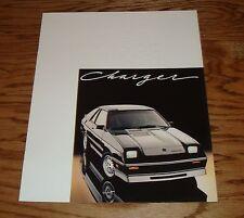 Original 1987 Dodge Charger Sales Brochure 87