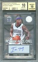 2012-13 totally certified rookie autographs #10 ISAIAH THOMAS (PRISTINE) BGS 10