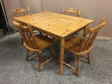 Pine Kitchen Dining Table With 4 Chairs