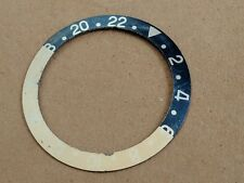 Vintage Rolex GMT 1675 Gilt Era Fat Font Yale Blue/Faded Salmon Bezel Insert