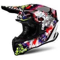 AIROH TWIST CRAZY BLACK MOTOCROSS MX ENDURO OFF-ROAD BIKE HELMET