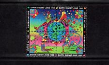 United Nations / NY Office 1992 Earth Summit Mini Sheet used First Day of Issue