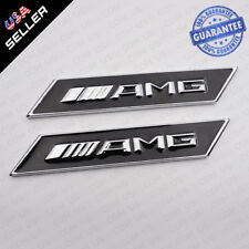 Mercedes-Benz AMG Emblem Metal Side Fender Marker Logo Badge Decoration Set 2
