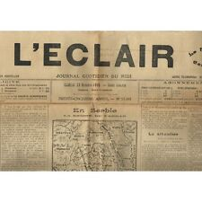 L'ÉCLAIR 29-10-1915 Le MARTINET Or de guerre-UZÈS Mariage BERNARD-VILLARET SAUVE