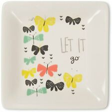 Let It Go Butterfly Jewelry Dish, Floral