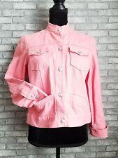 Women's Madarin Collar 100% Cotton Coral Denim Jacket by Liz Claiborne Sz Small