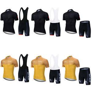 Mens Bike Cycling Jersey Short Half Sleeve Road Bicycle Top Bib Shorts Shirt