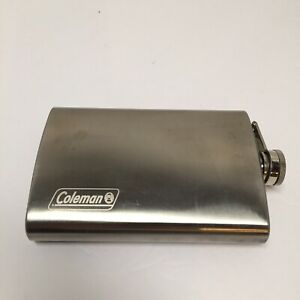 Coleman 8 Oz Stainless Steel Flask With Attached Hinged Lid