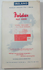 approx 1952 old vintage Foldex Map Guide Ireland Maps 1 & 2 South of Dublin