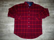 Pendleton Long Sleeve Virgin Wool Flannel Medium Shirt Plaid Checks Made in USA